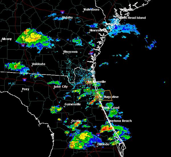 Radar Image for Severe Thunderstorms near St. Augustine, FL at 6/1/2017 4:34 PM EDT