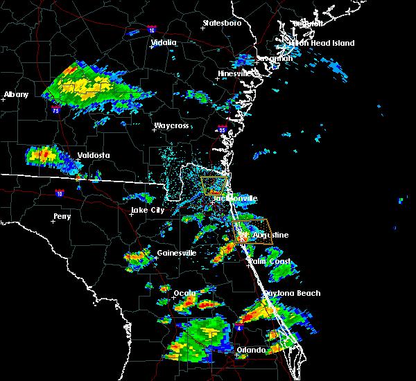 Radar Image for Severe Thunderstorms near Yulee, FL at 6/1/2017 4:50 PM EDT