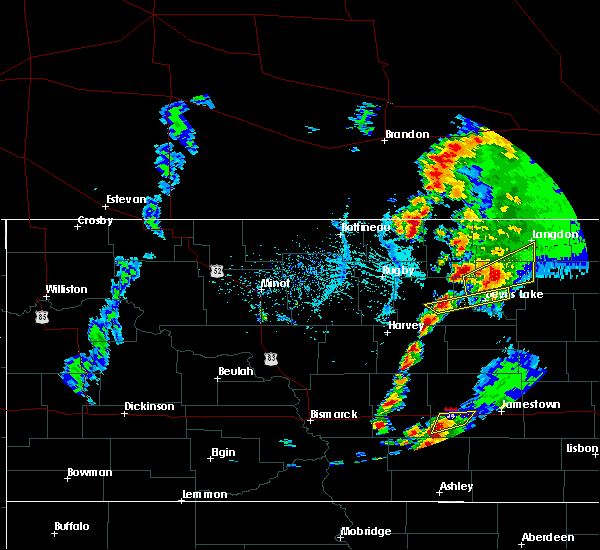 Radar Image for Severe Thunderstorms near Devils Lake, ND at 6/2/2017 6:24 PM CDT