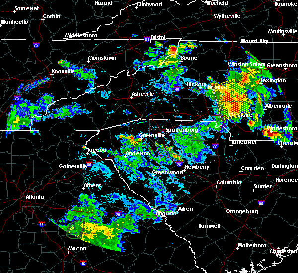 Radar Image for Severe Thunderstorms near Harrisburg, NC at 6/4/2017 5:02 PM EDT