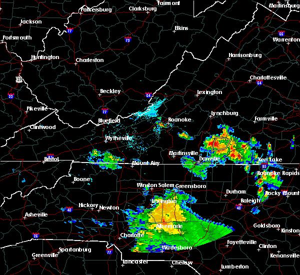 Radar Image for Severe Thunderstorms near Nathalie, VA at 6/4/2017 6:59 PM EDT