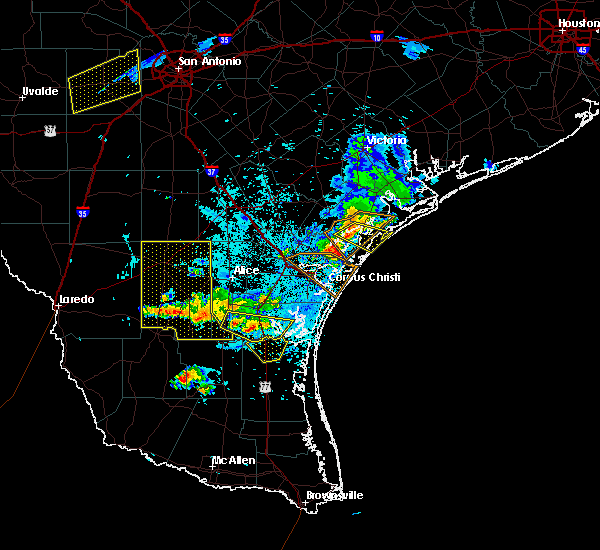 Radar Image for Severe Thunderstorms near Corpus Christi, TX at 6/4/2017 9:55 PM CDT