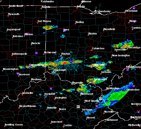 Radar Image for Severe Thunderstorms near Fairfield, OH at 6/5/2017 3:27 PM EDT