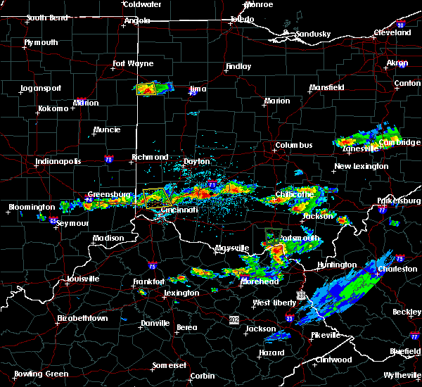 Radar Image for Severe Thunderstorms near Fairfield, OH at 6/5/2017 3:44 PM EDT