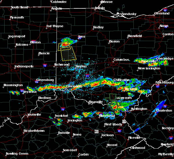 Radar Image for Severe Thunderstorms near Covington, OH at 6/5/2017 4:36 PM EDT