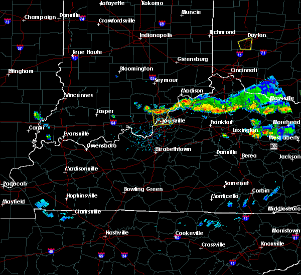 Radar Image for Severe Thunderstorms near Utica, KY at 6/5/2017 6:18 PM EDT