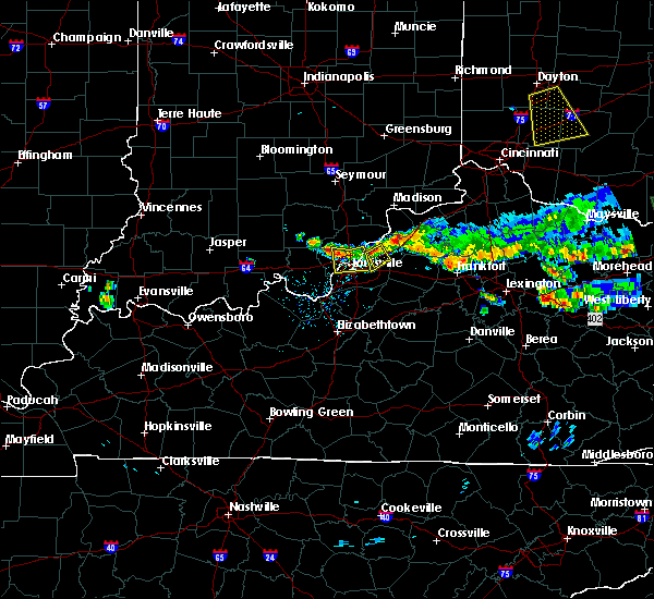 Radar Image for Severe Thunderstorms near Utica, KY at 6/5/2017 6:38 PM EDT