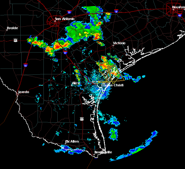 Radar Image for Severe Thunderstorms near Corpus Christi, TX at 6/5/2017 7:36 PM CDT