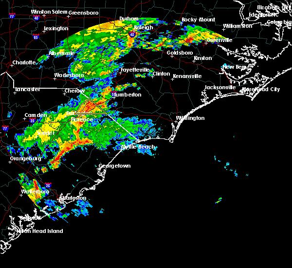 Radar Image for Severe Thunderstorms near Dillon, SC at 6/5/2017 8:44 PM EDT
