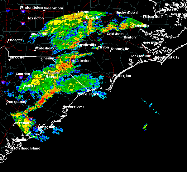Radar Image for Severe Thunderstorms near Dillon, SC at 6/5/2017 8:56 PM EDT