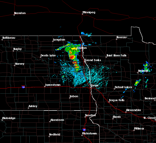 Radar Image for Severe Thunderstorms near Grand Forks AFB, ND at 6/7/2017 1:05 PM CDT