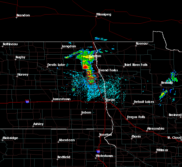 Radar Image for Severe Thunderstorms near Grand Forks AFB, ND at 6/7/2017 1:20 PM CDT