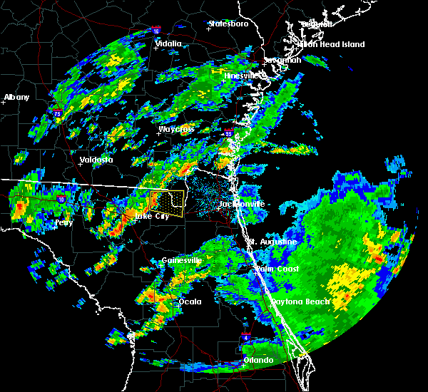 Radar Image for Severe Thunderstorms near Glen St. Mary, FL at 6/7/2017 2:32 PM EDT
