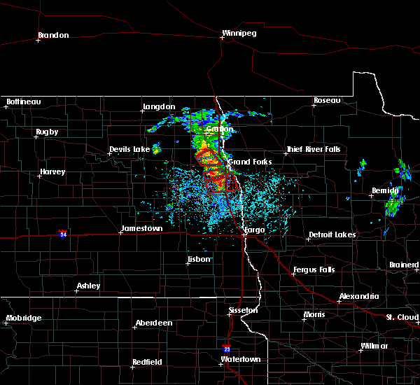Radar Image for Severe Thunderstorms near Grand Forks, ND at 6/7/2017 1:47 PM CDT