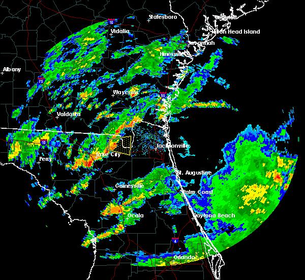 Radar Image for Severe Thunderstorms near Glen St. Mary, FL at 6/7/2017 2:50 PM EDT