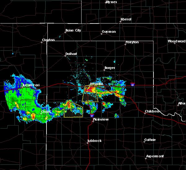 Radar Image for Severe Thunderstorms near Dimmitt, TX at 6/8/2017 8:59 PM CDT
