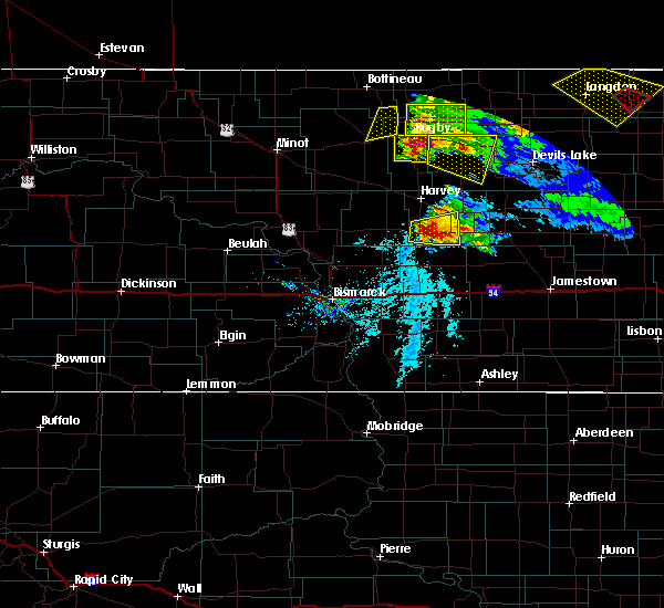 Radar Image for Severe Thunderstorms near Bowdon, ND at 6/9/2017 7:01 PM CDT