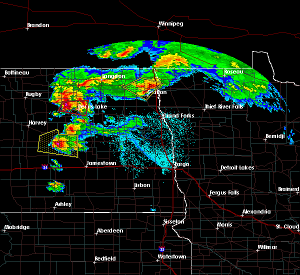 Radar Image for Severe Thunderstorms near Devils Lake, ND at 6/9/2017 7:55 PM CDT