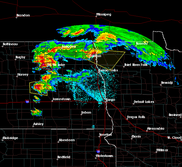 Radar Image for Severe Thunderstorms near Devils Lake, ND at 6/9/2017 8:04 PM CDT