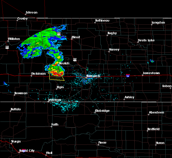 Radar Image for Severe Thunderstorms near Hebron, ND at 6/10/2017 1:19 AM CDT