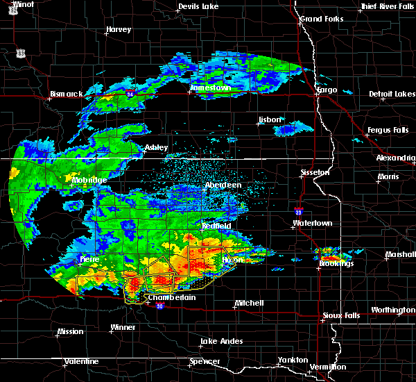Radar Image for Severe Thunderstorms near Reliance, SD at 6/11/2017 3:47 AM CDT