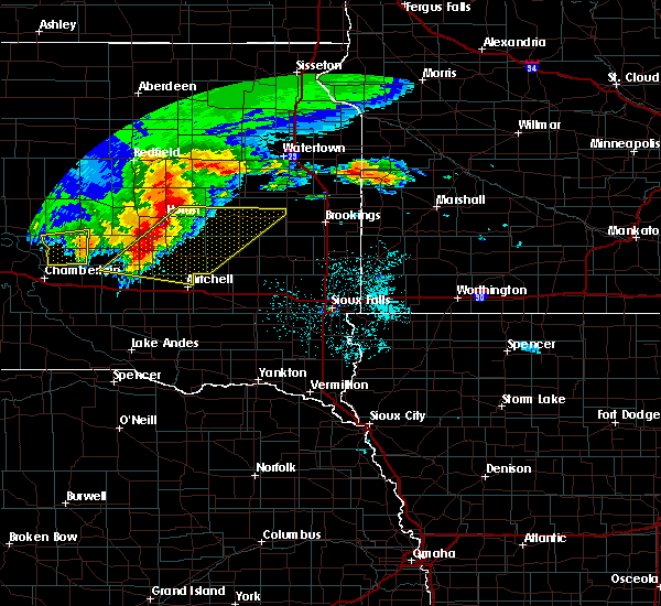 Radar Image for Severe Thunderstorms near Huron, SD at 6/11/2017 4:23 AM CDT