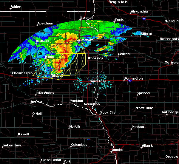 Radar Image for Severe Thunderstorms near Sinai, SD at 6/11/2017 5:07 AM CDT