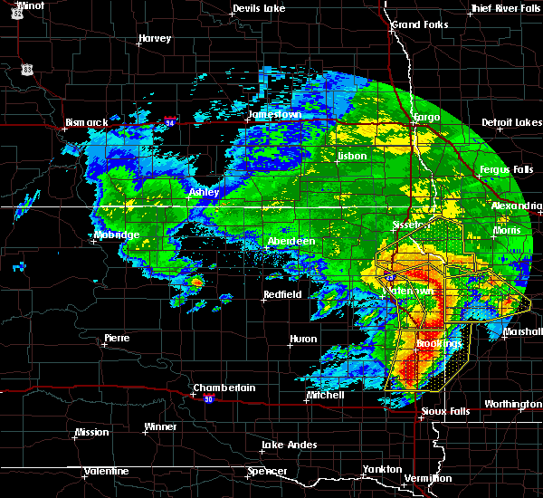 Radar Image for Severe Thunderstorms near Gary, SD at 6/11/2017 6:07 AM CDT