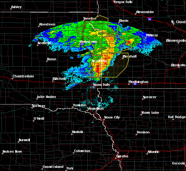 Radar Image for Severe Thunderstorms near Gary, SD at 6/11/2017 6:25 AM CDT