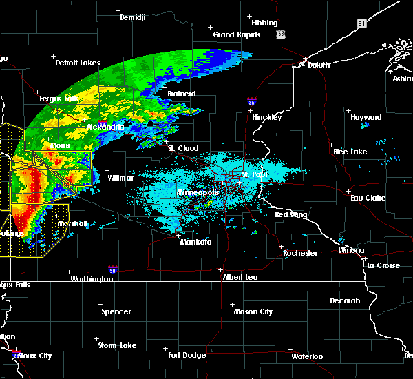 Radar Image for Severe Thunderstorms near Clontarf, MN at 6/11/2017 6:28 AM CDT