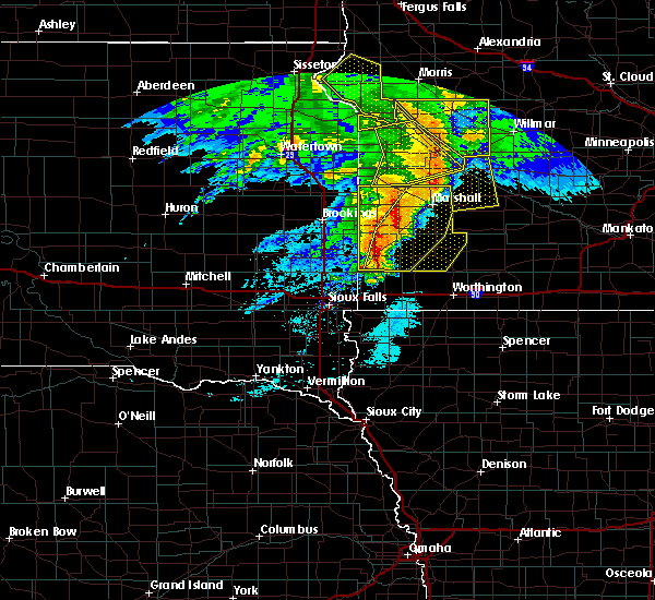 Radar Image for Severe Thunderstorms near The Lakes, MN at 6/11/2017 6:43 AM CDT