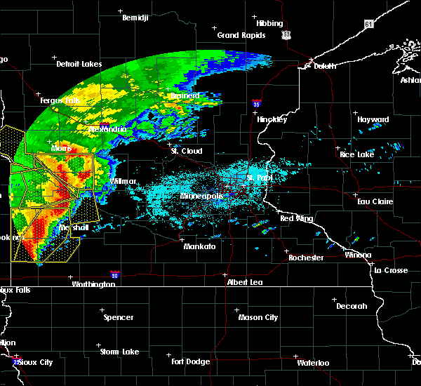 Radar Image for Severe Thunderstorms near Clara City, MN at 6/11/2017 6:46 AM CDT