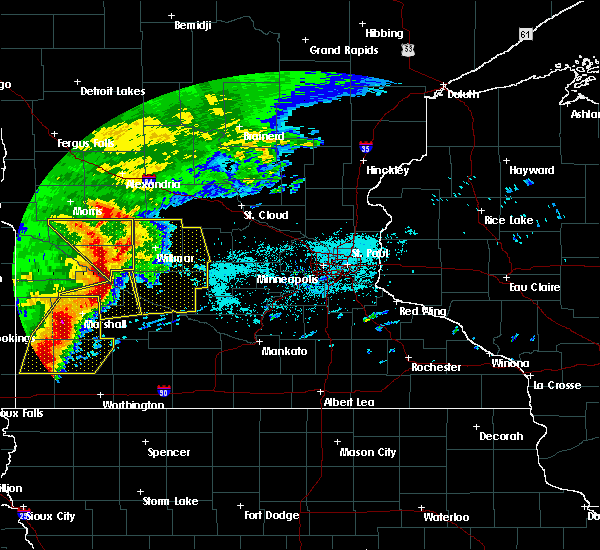 Radar Image for Severe Thunderstorms near Hector, MN at 6/11/2017 6:53 AM CDT