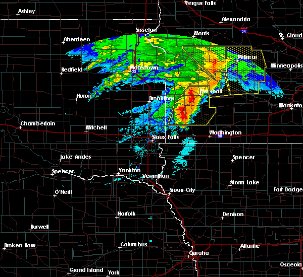 Radar Image for Severe Thunderstorms near The Lakes, MN at 6/11/2017 6:58 AM CDT