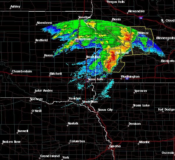 Radar Image for Severe Thunderstorms near The Lakes, MN at 6/11/2017 7:04 AM CDT