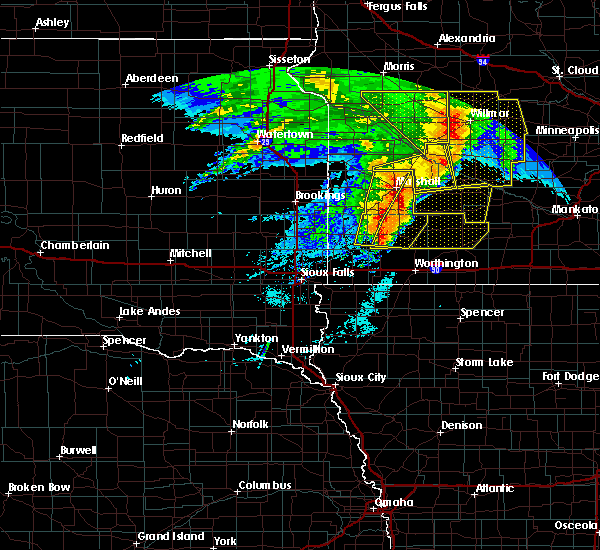 Radar Image for Severe Thunderstorms near The Lakes, MN at 6/11/2017 7:08 AM CDT