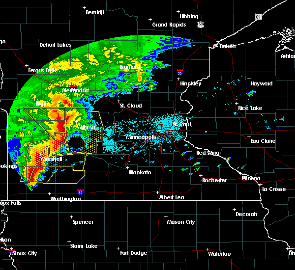 Radar Image for Severe Thunderstorms near Clements, MN at 6/11/2017 7:08 AM CDT