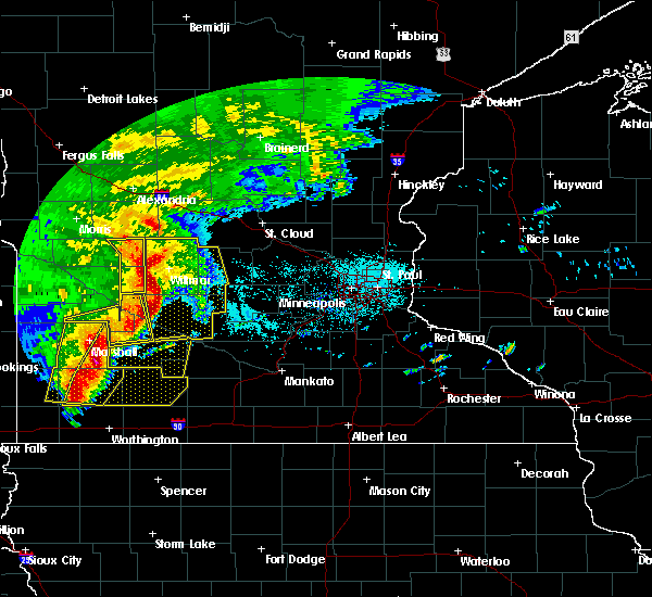 Radar Image for Severe Thunderstorms near De Graff, MN at 6/11/2017 7:14 AM CDT