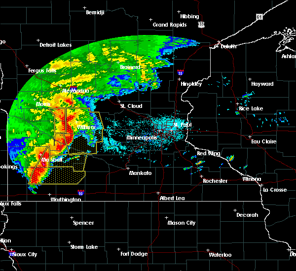 Radar Image for Severe Thunderstorms near Atwater, MN at 6/11/2017 7:17 AM CDT