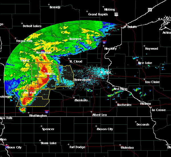Radar Image for Severe Thunderstorms near Clara City, MN at 6/11/2017 7:26 AM CDT