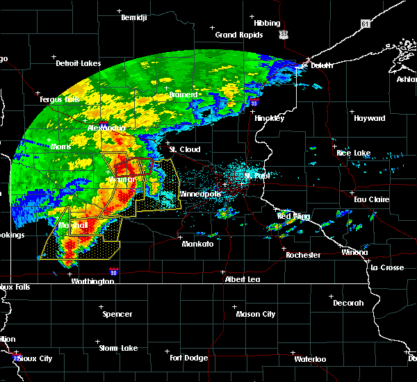 Radar Image for Severe Thunderstorms near Atwater, MN at 6/11/2017 7:39 AM CDT