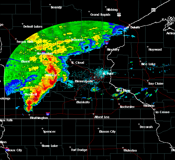 Radar Image for Severe Thunderstorms near Atwater, MN at 6/11/2017 7:38 AM CDT