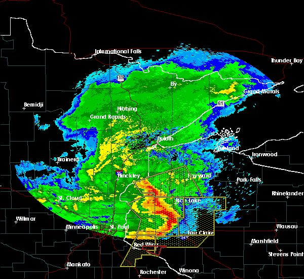 Radar Image for Severe Thunderstorms near Trego, WI at 6/11/2017 10:06 AM CDT