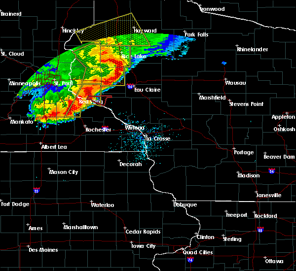Radar Image for Severe Thunderstorms near Bloomer, WI at 6/11/2017 10:06 AM CDT