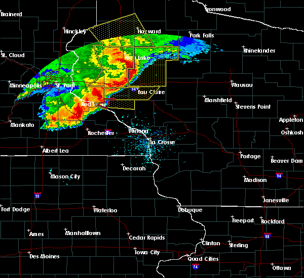 Radar Image for Severe Thunderstorms near Durand, WI at 6/11/2017 10:19 AM CDT
