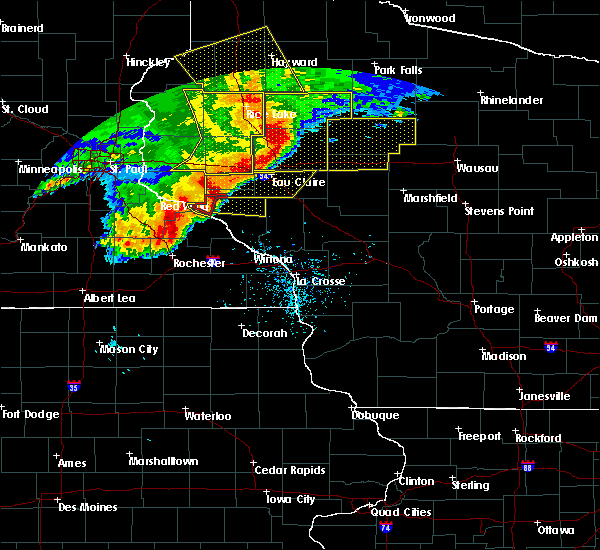 Radar Image for Severe Thunderstorms near Durand, WI at 6/11/2017 10:28 AM CDT