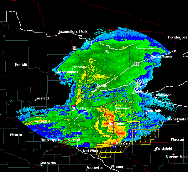 Radar Image for Severe Thunderstorms near Little Round Lake, WI at 6/11/2017 10:34 AM CDT