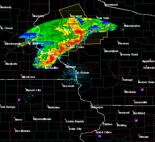 Radar Image for Severe Thunderstorms near Cadott, WI at 6/11/2017 10:46 AM CDT