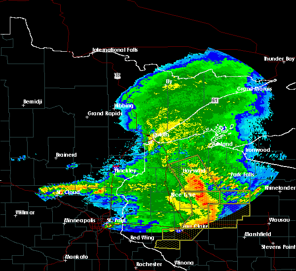 Radar Image for Severe Thunderstorms near Little Round Lake, WI at 6/11/2017 10:58 AM CDT