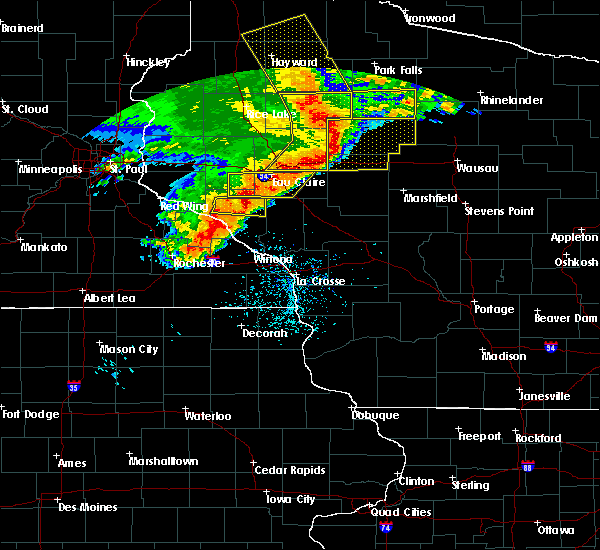 Radar Image for Severe Thunderstorms near Cadott, WI at 6/11/2017 10:58 AM CDT
